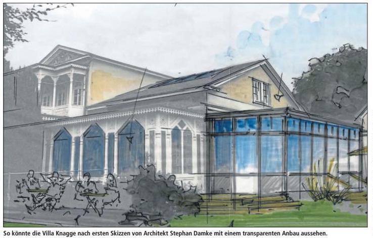 Nordmann plant Braugasthaus in der Villa Knagge - Krankenhaus Johanneum